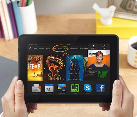 新Kindle平板电脑 Kindle Fire HDX 特价进行中