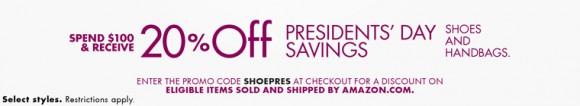 美国Amazon鞋包类8折优惠码SHOEPRES
