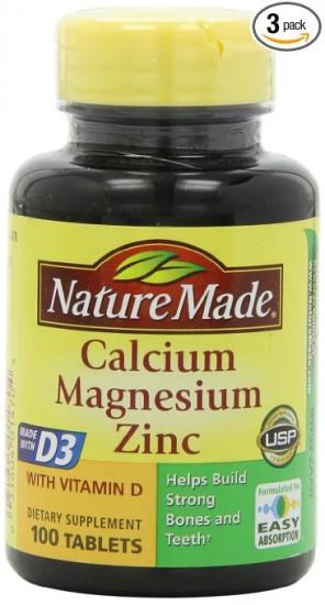 凑单好货,三瓶特价,Nature Made 自然制造 钙镁锌维生素D3片