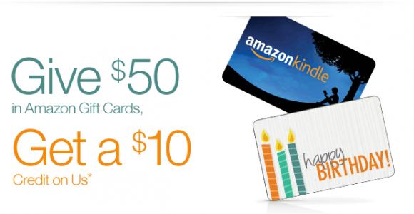 美国亚马逊GiftCard礼品卡,买50刀送10刀,邮件专享!