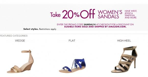 美国Amazon最新优惠券,女款凉鞋八折码放出来啦