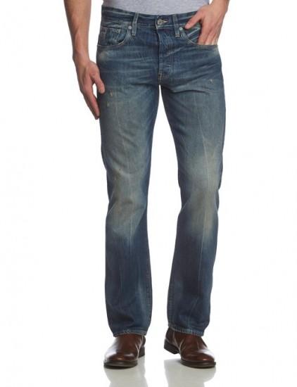 降成白菜价!G-Star 3301 男士修身直筒牛仔裤