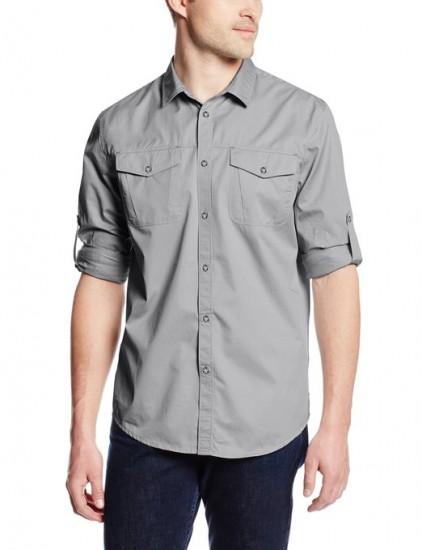 再推荐一款,Calvin Klein Jeans Solid男士长袖衬衫