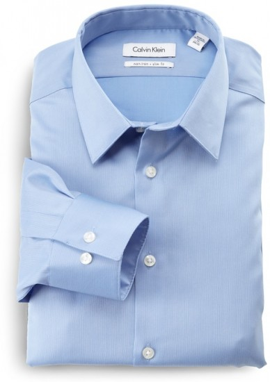 还能下单,Calvin Klein Slim-Fit修身版长袖正装衬衫