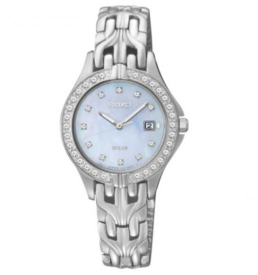 历史新低,SEIKO SUT083 精工女款镶水晶太阳能腕表