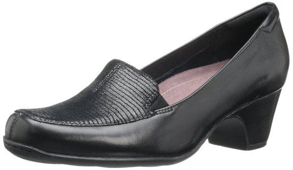 适合买给妈妈穿,Clarks 其乐女款粗高跟皮鞋