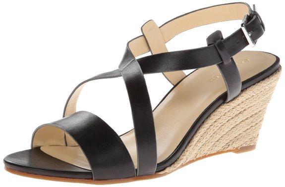 可用75折神码,Cole Haan 可汗 女士坡跟鱼嘴凉鞋