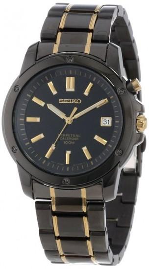 又见新低价,Seiko SNQ045 精工钛黑离子涂层男士手表
