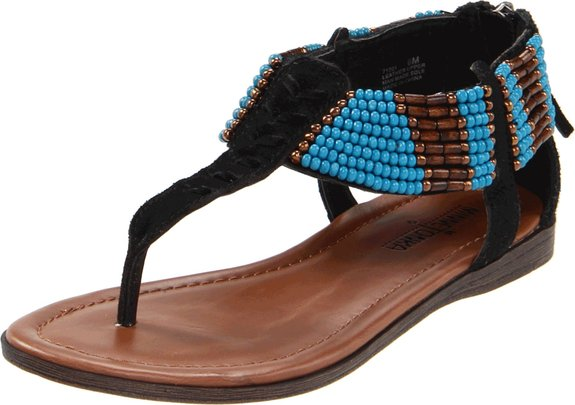 更具民族特色,Minnetonka 迷你唐卡 Ibiza 波西米亚风女凉鞋