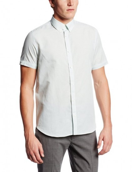 当季好价可入,Calvin Klein 男士亚麻棉短袖衬衫
