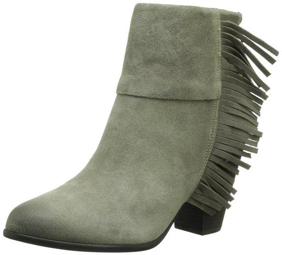 国内价格绝对坑爹,ASH 6寸流苏高跟真皮短靴