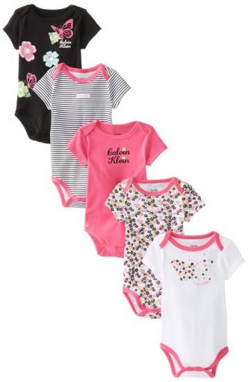 历史新低,Calvin Klein Newborn Bodysuit 女宝宝连身衣5件