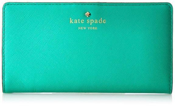 可用75折券,Kate Spade 凯特丝蓓 女士真皮钱包