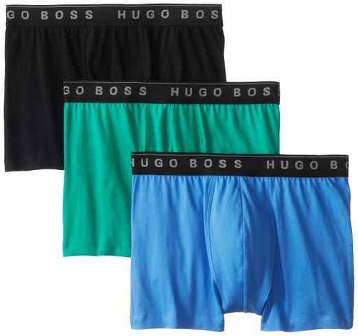 新低凑单,Hugo Boss 雨果博斯男款纯棉平角内裤三条装