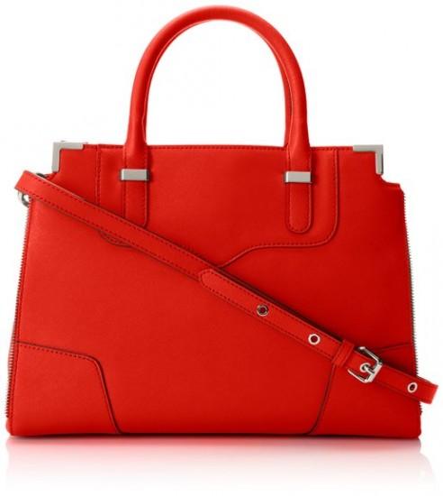 红色最低价,Rebecca Minkoff 瑞贝卡明可弗女士真皮手提包