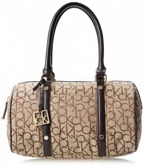 可用75折券,Calvin Klein Hudson Jacquard CK女款手提枕头包