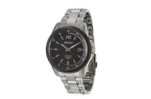 新低还包邮!SEIKO SKA635 Kinetic 精工人动电能男士手表