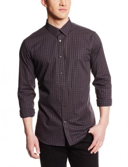 凑单好价,Calvin Klein 男士格纹长袖衬衫