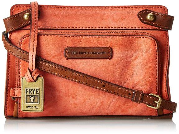 很复古的小包,FRYE 弗莱女士真皮斜挎包