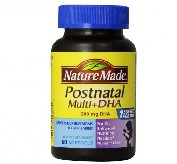 60粒新低价,NatureMade 孕妇产后综合维生素+DHA