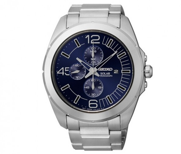 还剩5只,SEIKO SSC201 精工男士光动能三眼计时手表