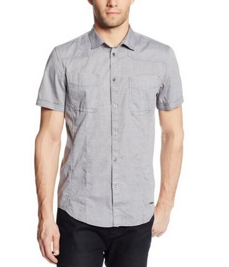 凑单买好价,Calvin Klein 纯棉修身短袖衬衫