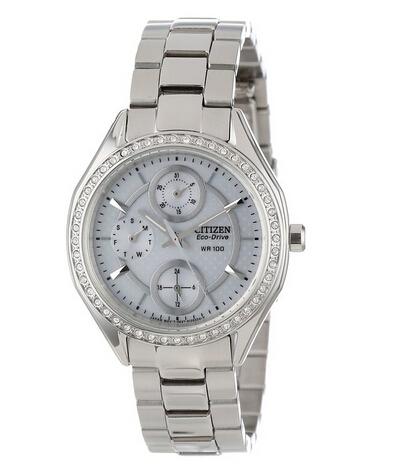 送妹子好礼,Citizen FD1060-55A 西铁城女士光动能水晶手表