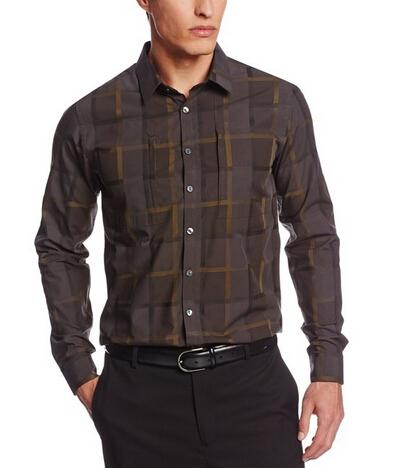 天气渐凉可以备货了,Calvin Klein 男士长袖格纹衬衫