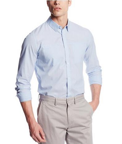 秋装来几件,Calvin Klein Sportswear男士长袖衬衫