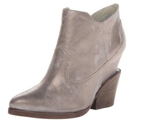 历史最低可美亚直邮,ASH 2014款金属色真皮踝靴