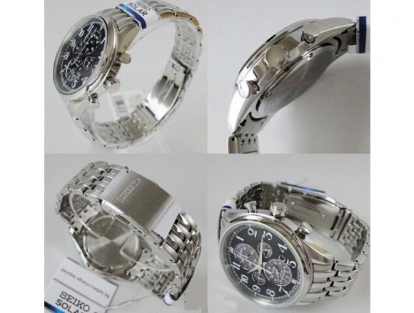历史新低,SEIKO SSC207 精工男士四眼计时太阳能手表