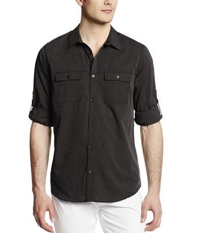 白菜价凑单!Calvin Klein Sportswear 男士纯棉长袖衬衣