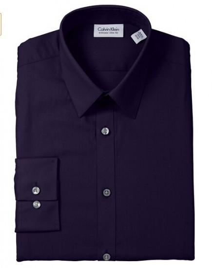 葡萄紫近期好价,Calvin Klein 男士纯棉长袖衬衣