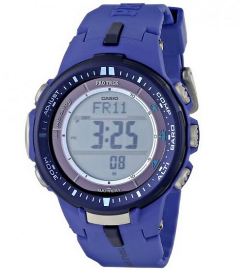 骚蓝色新低!CASIO PRW-3000-2BCR 卡西欧三重感应6局电波新款登山表