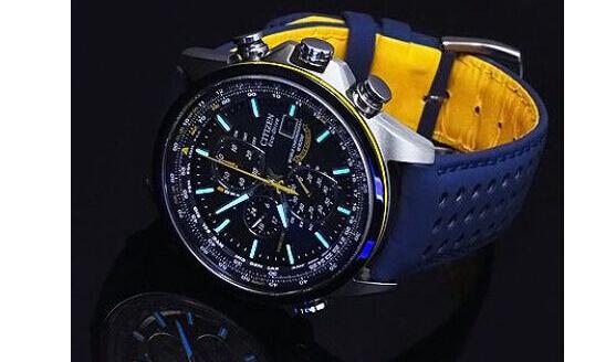 再刷新低!CITIZEN AT8020-03L 西铁城空中之鹰蓝天使光动能手表