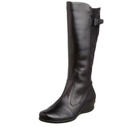 黑五历史新低,ECCO Abelone 爱步葡萄牙产波珑12寸女士坡跟长靴