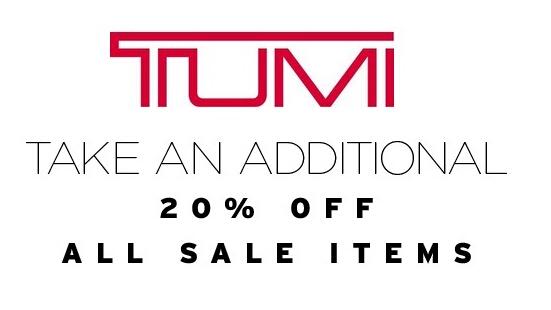 TUMI美国官网周一大促,低至6折再叠加8折优惠券