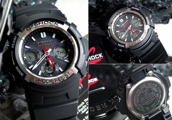 比秒杀价还低,Casio AWGM100-1ACR 卡西欧6局电波光动能手表