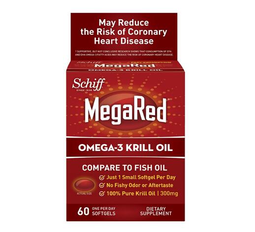 300mg版新低!Schiff Omega-3 南极磷虾油软胶囊