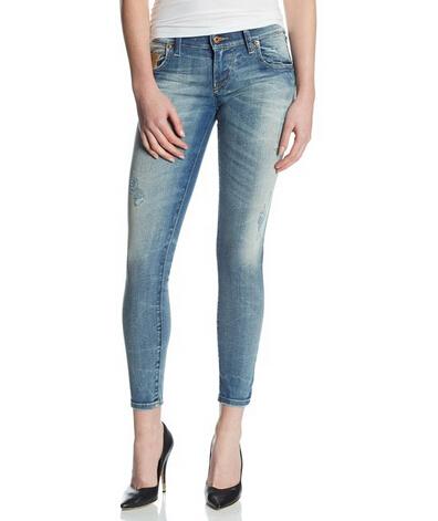 历史新低价,DIESEL 迪赛2014款女士弹力修身做旧牛仔裤