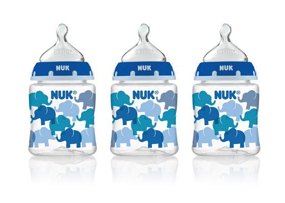 美亚直邮新低!NUK Trendline 德产防胀气防畸齿婴儿奶瓶140ml*3只