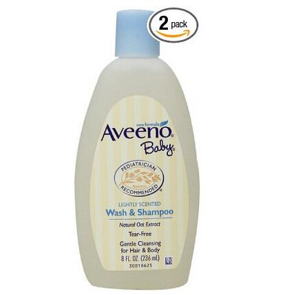 近期低价!Aveeno Baby 艾维诺婴儿洗发沐浴二合一 236ml*2瓶