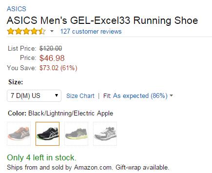 好价速抢!ASICS GEL-Neo33 亚瑟士男士顶级训练跑鞋