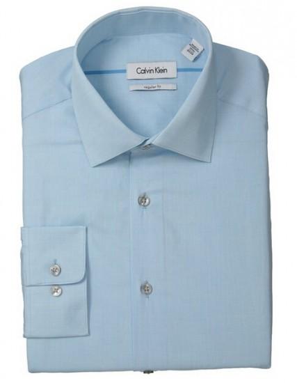 历史特价!Calvin Klein L/S Regular Fit 男士衬衫