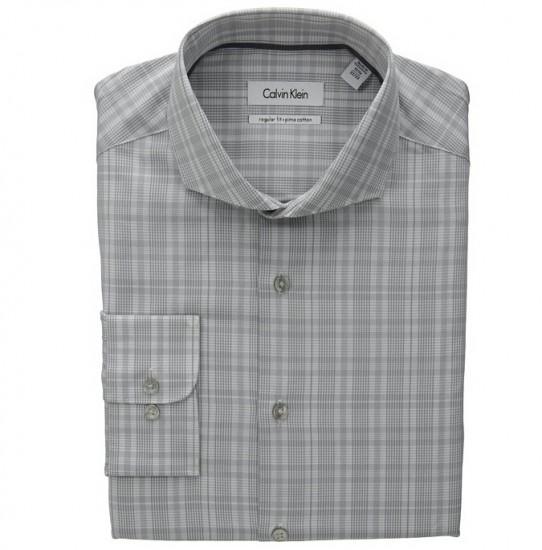 直邮好价!Calvin Klein 男士标准剪裁正装长袖衬衫