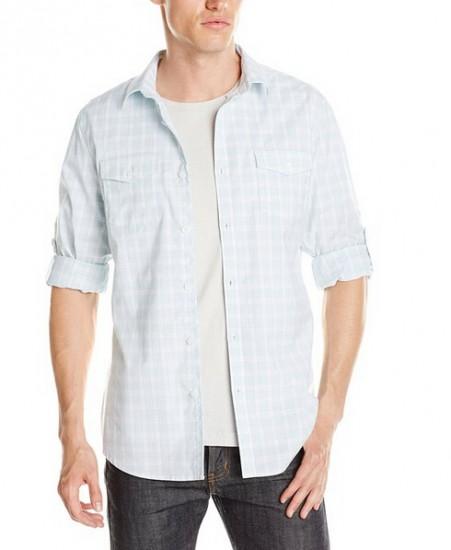 反季囤货好价!Calvin Klein 男士长袖格纹衬衫