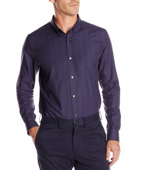 美亚直邮新低!Calvin Klein 男士修身全棉长袖衬衫