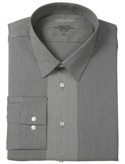 直邮好价!Calvin Klein 男士弹力修身长袖衬衫
