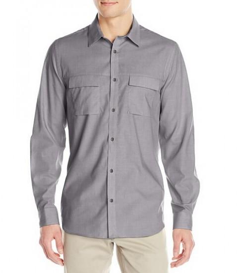 历史新低可直邮!Calvin Klein 男士纯棉长袖衬衫