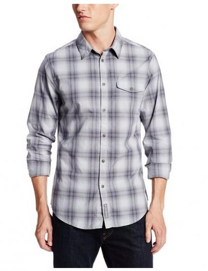 历史特价!Calvin Klein 男士纯棉格子衬衫